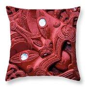 Maori Tilted Head Throw Pillow