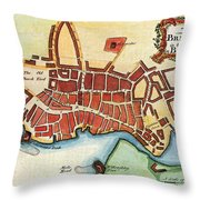 Map: Barbados, C1770 Throw Pillow