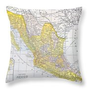 Map: Mexico Throw Pillow