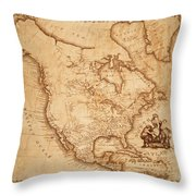 Map Of America 1800 Throw Pillow