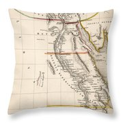 Map Of Aegyptus Antiqua Throw Pillow by Sydney Hall