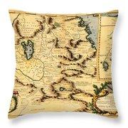Map Of Africa 1690 Throw Pillow