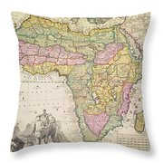 Map Of Africa Throw Pillow by Pieter Schenk
