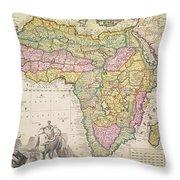 Map Of Africa Throw Pillow