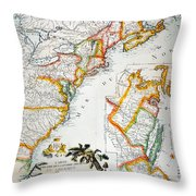 Map Of America, 1779 Throw Pillow