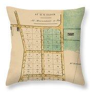 Map Of Auckland 1863b Throw Pillow