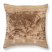 Map Of Cairo 1600 Throw Pillow
