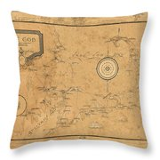 Map Of Cape Cod 1931 Throw Pillow