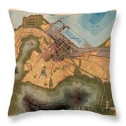Map Of Cape Town 1947 Throw Pillow
