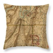 Map Of Chattanooga 1895 Throw Pillow