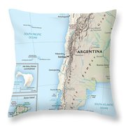 Map Of Chile 2  Throw Pillow