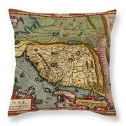 Map Of China 1590 Throw Pillow