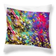 Map Of Colorado-colorful Throw Pillow