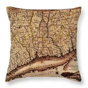 Map Of Connecticut 1795 Throw Pillow