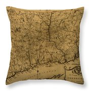 Map Of Connecticut 1797 Throw Pillow