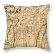 Map Of Cork 1771 Throw Pillow