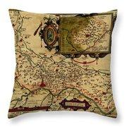 Map Of Cremona 1579 Throw Pillow