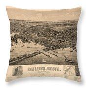 Map Of Duluth 1893 Throw Pillow