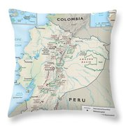 Map Of Ecuador 2 Throw Pillow