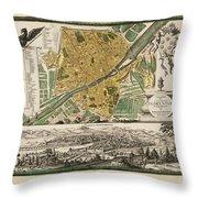 Map Of Florence 1731 Throw Pillow