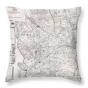 Map Of Franklin County Ohio 1883 Throw Pillow