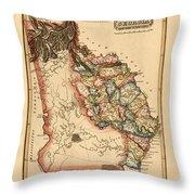 Map Of Georgia 1817 Throw Pillow