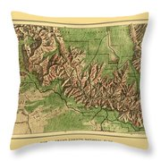 Map Of Grand Canyon 1926 Throw Pillow