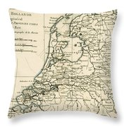 Map Of Holland Including The Seven United Provinces Of The Low Countries Throw Pillow