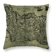 Map Of Ireland 1771 Throw Pillow