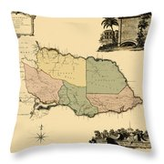 Map Of Jamaica 1763 Throw Pillow