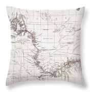 Map Of Livingstones Route Across Throw Pillow