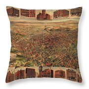 Map Of Los Angeles 1891 Throw Pillow