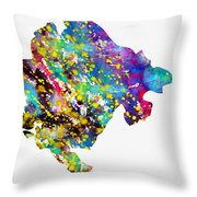 Map Of Montenegro-colorful Throw Pillow