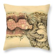 Map Of Montevideo 1808 Throw Pillow
