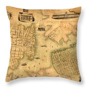 Map Of Norfolk 1851 Throw Pillow