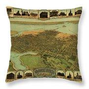 Map Of Oakland 1900 Throw Pillow