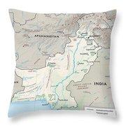 Map Of Pakistan2  Throw Pillow