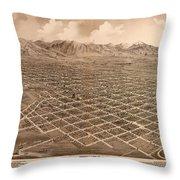 Map Of Salt Lake City 1875 Throw Pillow