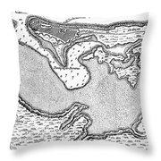 Map Of San Juan, 1766 Throw Pillow
