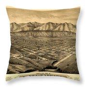 Map Of Santa Barbara 1877 Throw Pillow