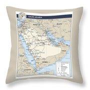 Map Of Saudi Arabia 2 Throw Pillow