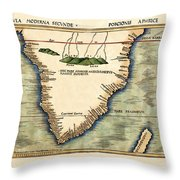 Map Of South Africa 1513 Throw Pillow