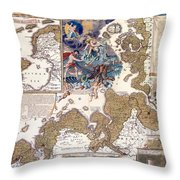 Map Of The Christmas Flood Of 1717 Throw Pillow