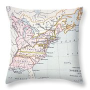 Map Of The Colonies Of North America At The Time Of The Declaration Of Independence Throw Pillow by American School