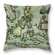 Map Of The East Indies Throw Pillow