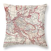 Map: Thirty Years War Throw Pillow