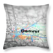 Map View For Travel To Locations And Destinations Throw Pillow