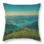 Map View Throw Pillow