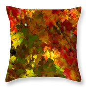 Maple Abstract Throw Pillow