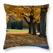 Maple And Arborvitae Throw Pillow
